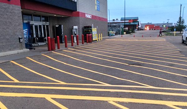 Alberta Parking Lot Services - Line Painting - Red Deer, Alberta