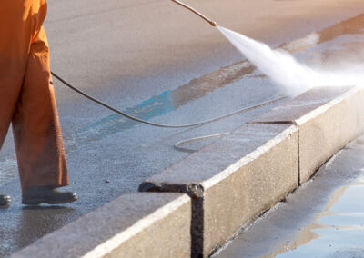 Alberta Parking Lot Services - Additional Services - Commercial Pressure Washing - Red Deer, Alberta